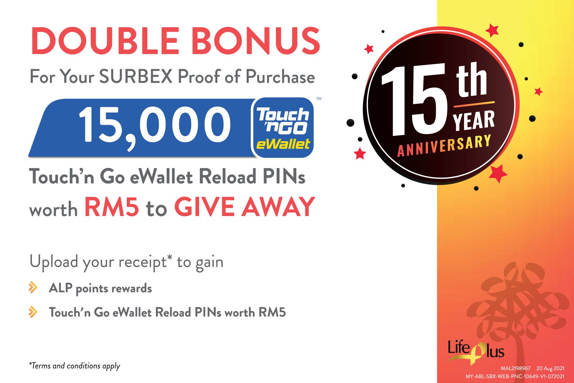 15th Anniversary Double Bonus