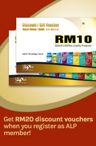 Get RM20 discount vouchers when you register as ALP member!