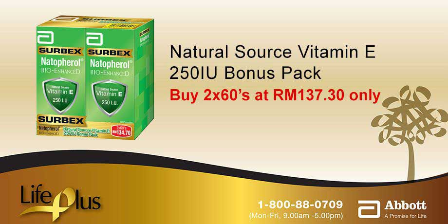 Surbex Natopherol Bio-Enhanced Vitamin E 250I.U.