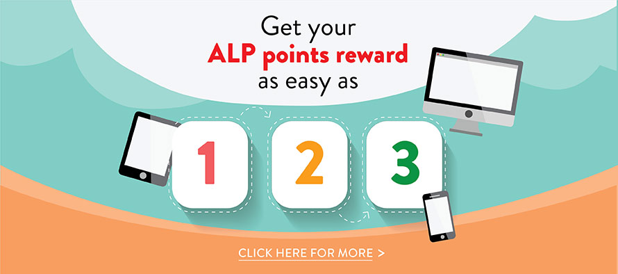 Get Your ALP points reward as easy as 123